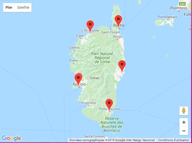 Carte Google SNP2018