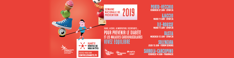 Semaine Nationale de Prévention du Diabète en Corse 2019