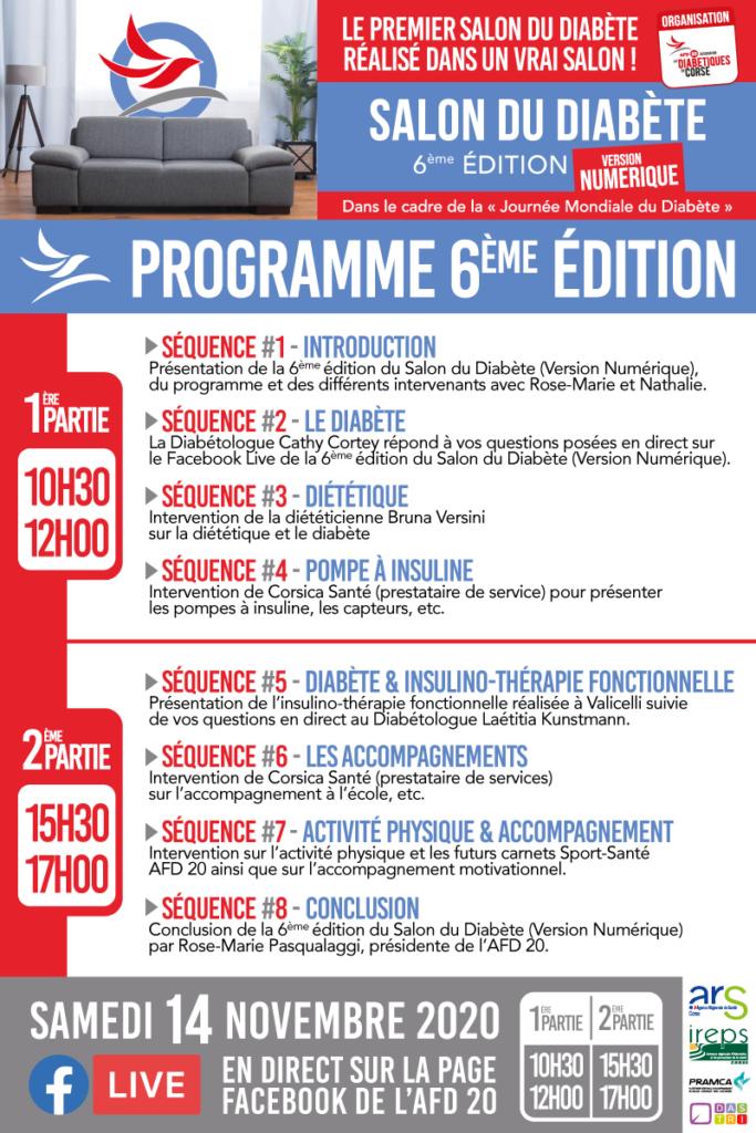 Programme du Salon du Diabète version numérique